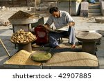 JAIPUR, INDIA - JUNE 20: Market. Biggest health risks in India are hep B and typhoid, the main source being contaminated unclean food, same as sold on this market on June 20, 2007 in Jaipur, India. - stock photo