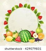 delicious fresh fruits... | Shutterstock .eps vector #429079831