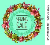 vector design spring sale... | Shutterstock .eps vector #429081637