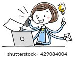 illustration material  young...   Shutterstock .eps vector #429084004
