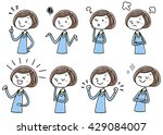 illustration material  young... | Shutterstock .eps vector #429084007