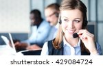 portrait of call center worker... | Shutterstock . vector #429084724