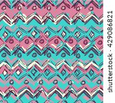 boho style vector background... | Shutterstock .eps vector #429086821