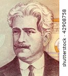 Small photo of BRAZIL - CIRCA 1985: Oswaldo Cruz on 50000 Cruzerios 1985 Banknote from Brazil. Physician, epidemiologist, bacteriologist and public health officer.