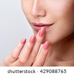 beautiful young woman with...   Shutterstock . vector #429088765