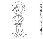 coloring book with aliens....   Shutterstock .eps vector #429089581