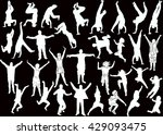 illustration with happy people... | Shutterstock .eps vector #429093475