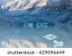glacier in hooker lake in mount ... | Shutterstock . vector #429096649