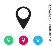 the label on the map icon | Shutterstock .eps vector #429099271
