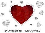 dark red heart isolated on...   Shutterstock .eps vector #429099469