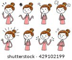 illustration material  young... | Shutterstock .eps vector #429102199