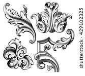vintage baroque victorian frame ... | Shutterstock .eps vector #429102325