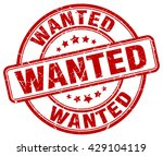 wanted. stamp | Shutterstock .eps vector #429104119