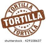 tortilla. stamp | Shutterstock .eps vector #429108637