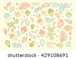 forest autumn collection.... | Shutterstock .eps vector #429108691