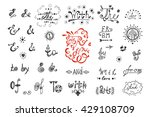 hand drawn doodle ampersands... | Shutterstock .eps vector #429108709