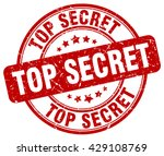 top secret stamp red round