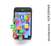 icon app fall in smart phone.... | Shutterstock . vector #429109969