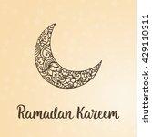 ramadan kareem theme. vector... | Shutterstock .eps vector #429110311