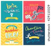 sports lettering quote set.... | Shutterstock .eps vector #429110329