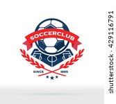 soccer club logo  football team ... | Shutterstock .eps vector #429116791