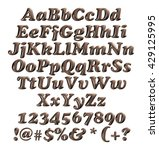 chocolate alphabets on isolated ... | Shutterstock . vector #429125995