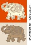 original stylized ethnic indian ... | Shutterstock .eps vector #429128194