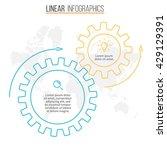 circular infographic. chart ... | Shutterstock .eps vector #429129391