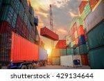 industrial crane loading...   Shutterstock . vector #429134644