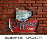 hot coffee shop vintage  | Shutterstock . vector #429136279