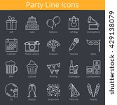 20 party line icons  vector... | Shutterstock .eps vector #429138079