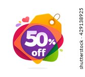 vector design element for 50 ... | Shutterstock .eps vector #429138925