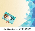 vacation time. businessman... | Shutterstock .eps vector #429139339