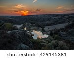 rock canyon against beautiful... | Shutterstock . vector #429145381
