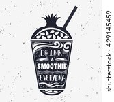 smoothie. vegan  typography... | Shutterstock . vector #429145459