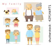 set of big family  vector ... | Shutterstock .eps vector #429146971