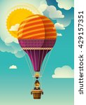 hot air balloon in the sky.... | Shutterstock .eps vector #429157351