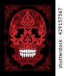 tattoo skull illustration in...   Shutterstock .eps vector #429157567
