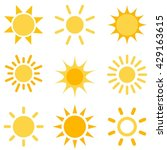 sun icons set. raster version | Shutterstock . vector #429163615