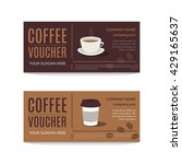 a gift coffee voucher or... | Shutterstock .eps vector #429165637