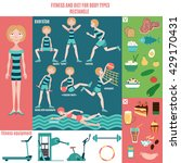infographic  fitness and diet... | Shutterstock .eps vector #429170431