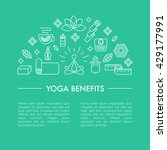 collection of yoga banners.... | Shutterstock .eps vector #429177991