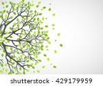 Abstract nature background. Vector tree. | Shutterstock vector #429179959