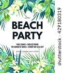 bright hawaiian design with... | Shutterstock .eps vector #429180319