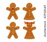 set of gingerbread cookies.... | Shutterstock .eps vector #42918169