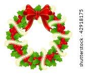 christmas wreath for winter... | Shutterstock .eps vector #42918175