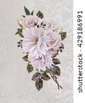 vintage postcard. old style.... | Shutterstock . vector #429186991