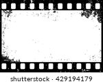 grunge black and white film... | Shutterstock .eps vector #429194179