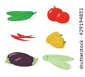 set of vector vegetables ... | Shutterstock .eps vector #429194851