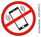 no  pictogram telephone. mobile ...